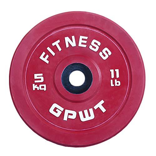 Olympic Rubber Bumper Weights Plates 2,5 kg - 25 kg Farbcodiert für Krafttraining, Fitnessübungen, Heben, Fettabbau, Riss, Calisthenics, 1 Paar,2.5kg