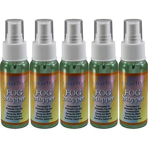5 2oz Bottles of Birdz Eyewear Anti Fog Spray & Defogger for Glasses Goggles Swimming Paintball and Diving Accessories - Safe on All Lenses