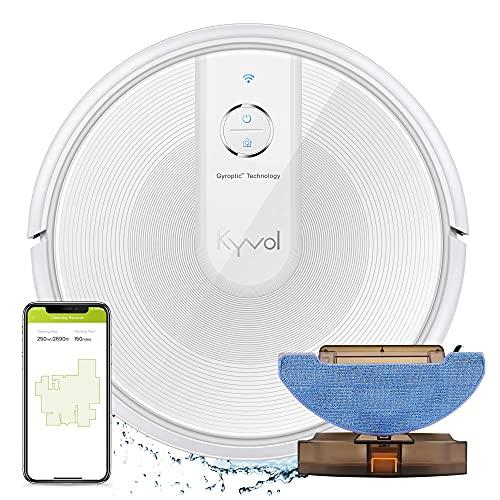 Kyvol E31 Saugroboter mit Wischfunktion 2200Pa Wischroboter, 150Min. Laufzeit, Smart Navigation, Funktioniert mit Alexa,ideal für Tierhaare, Teppiche und Hartböden, weiß