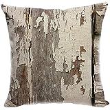 YISUMEI Kissenbezug 80x80 cm Home Decor Sofa Werfen Kissenbezüge Pillowcases Gesprenkelte Holz...
