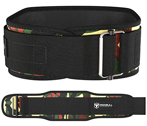 Weight Lifting Belt For Cross Training - 5 Inch Self-Locking Weightlifting Back Support, Workout Back Support for Lifting, Fitness and Powerlifitng - Men and Women (Large, Camo Green)
