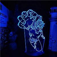 僕のヒーローアカデミア3Dランプアニメフィギュア僕のヒーローアカデミア常夜灯寝室装飾照明ランパラ-リモコン