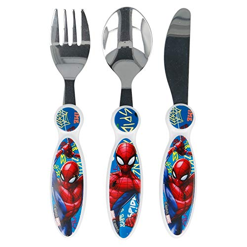 Spiderman Children's Kids 3pcs Cutlery Set, Knife/Fork/Spoon
