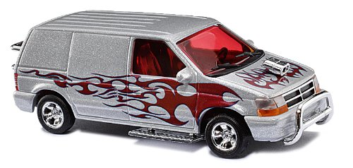 Busch 44656 - Dodge Ram Van Crazy Cars
