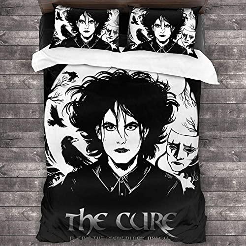 sängkläder påslakanset The Cure överkast överkast set täcke 3-delad sängkläder set 177 x 218 cm täcke set sängkläder, örngott 50 x 76 cm