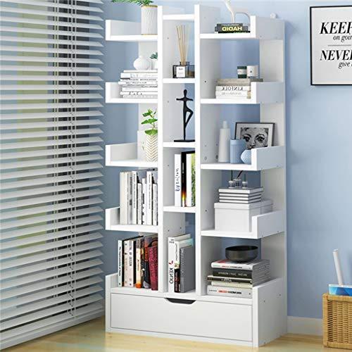 WCBING Los estantes de madera Estantería Vitrina de almacenamiento Árbol estante con Abierta Cubos for el salón o la oficina en un diseño moderno - biblioteca (Color : E)