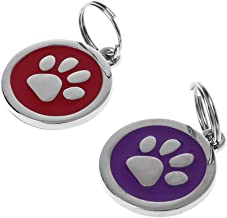 Fogun - Placa identificativa para Perro o Gato, con número de teléfono y Collar para Mascotas