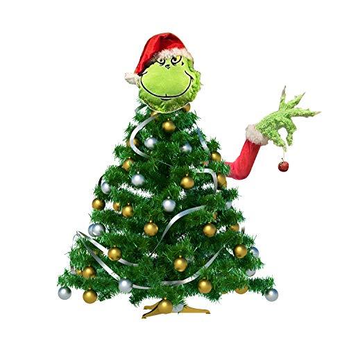HGNFD Decoración navideña de Grinch, Soporte de Adorno de