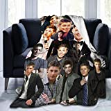 Needlove Jensen Ackles Collage Throw Blanket Suitable Ultra Soft Weighted Bedding Fleece Blanket for Sofa Bed Office 60'x50' Travel Multi-Size for Adult