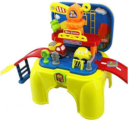 Mopoq BAU Stuhl Kinderspielhaus Spielzeug Cartoon Track-Multi-Funktions-Speicher Stuhl Set Portable mit Spiel Bildungs-Spielzeug Stuhl Kindern