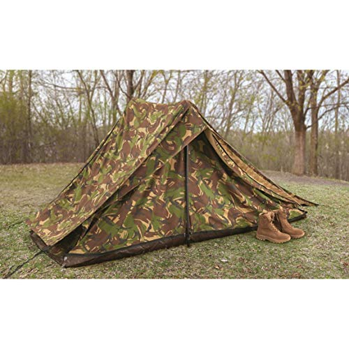 Surplus Dutch Military Special Forces 2 Man Camo Tent, Used