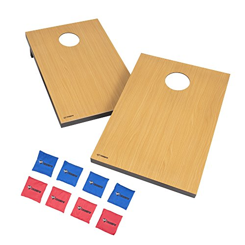 Triumph Premium 2x3 Cornhole Set - Includes 2 Portable Boards and 8 12.5 Ounce Cornhole Bags