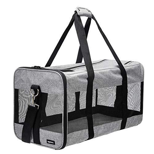 AmazonBasics Soft-Sided Pet Travel Carrier - Grey, Extra Large
