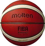 Molten BG5000 - Pallone da basket approvato dalla FIBA, Unisex - Adulto, Palla da basket approvata dalla FIBA., B7G5000, Arancione/marrone chiaro., Taglia 7