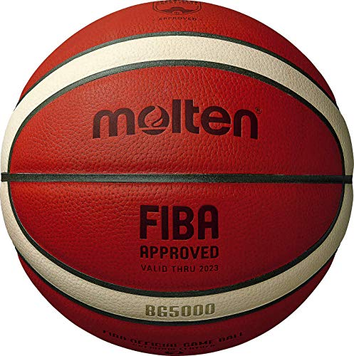 Molten BG5000 Pallone da gioco approvato FIBA, arancione/abbronzatura, misura 7