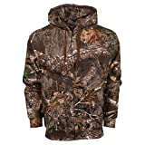 King's Camo Classic Full Zip Hoodie, Color: Realtree Edge, Size: L (KCB116-RE-L)