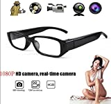 Mini HD Spy Camera Glasses 1080P Hidden Eyeglass Sunglasses Cam Eyewear DV DVR
