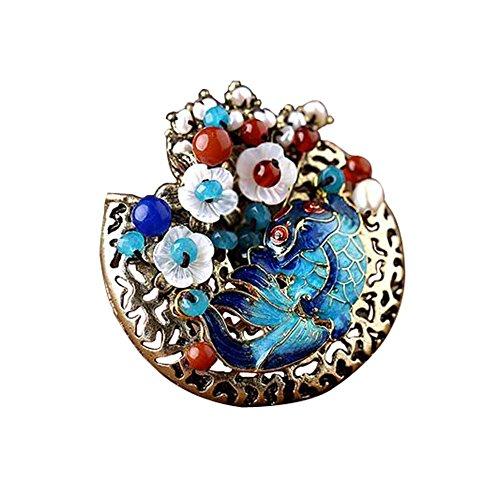 Broche de mode classique pPin fleurs de coquille accessoires vestimentaires