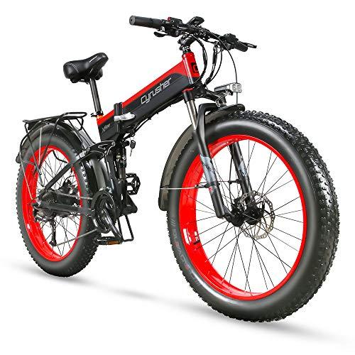Cyrusher XF690 1000w Electric Bike Fat Tire Mountain Ebike Folding Electric Bike