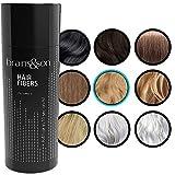 Fibras Capilares - Keratin Fibers 100% Natural para Disimular Calvicie y Aumentar el volumen. Maquillaje Capilar por hombres y mujeres - 25 Gramos Neto (RUBIO MEDIO)