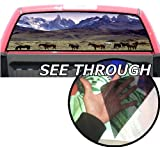 P26 Horse Horses Tint Rear Window Decal Wrap Graphic Perforated See Through Universal Size 65' x 17' FITS: Pickup Trucks F150 F250 Silverado Sierra Ram Tundra Ranger Colorado Tacoma 1500 2500