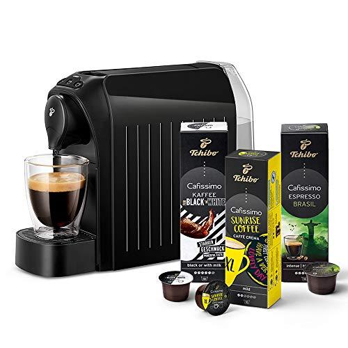 Tchibo Cafissimo easy Kapselmaschine (für Kaffee, Espresso und Caffè Crema) inkl. 30 Kapseln, Schwarz