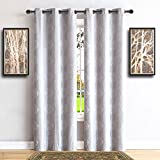 Warm Home Designs Pair of Extra Long 37' x 108' Metallic White 100%...