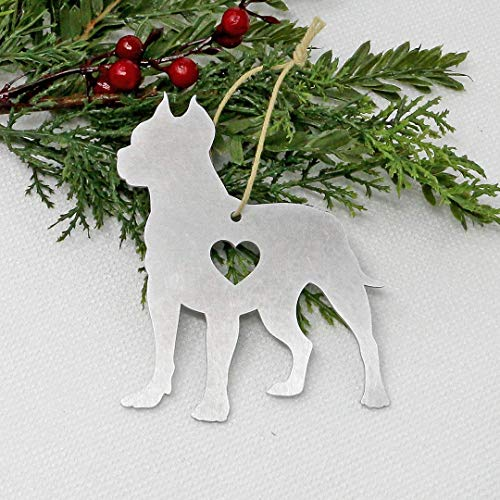 Pit Bull Metal Ornament Dog Gifts Christmas Tree Holiday Party Decorations Home Decor