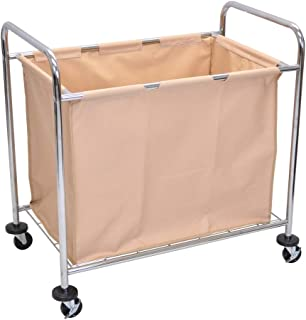 Luxor HL14 Laundry Cart With Steel Frame and Canvas