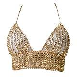 Ceinture Boho Multicouche Metal Chain Body Jewelry Bralette Chest Harnais Necklace Bra-Aisumi