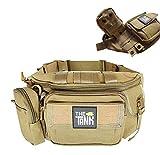 Tactical Sling Bag Pocket Bag Chest Shoulder Waist Fanny Pack Crossbody Bags for Men Water-Resistant EDC Bag with Adjustable Strap Camping Hiking Traveling Hunting Shopping Dog Walking