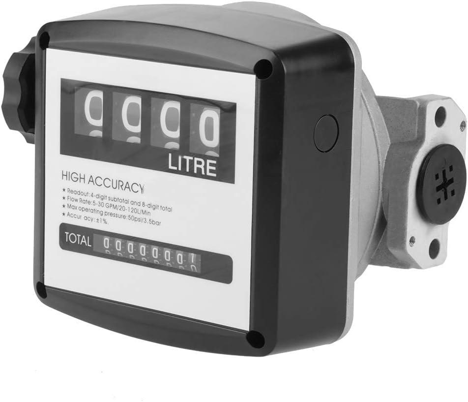 Medidor de Flujo de Combustible Mecánico para Diésel de 4 Dígitos