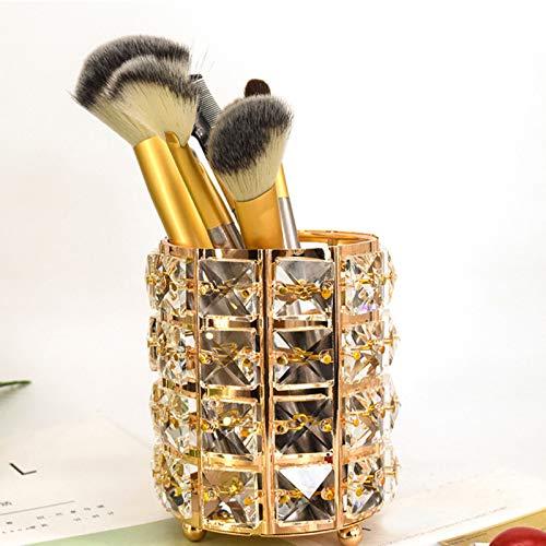 GFFTYX Caja de Maquillaje Organizador de Maquillaje,para Brochas, Cejas Lápices Soporte para Brochas de Maquillaje,Almacenamiento de Maquillaje (Cristal