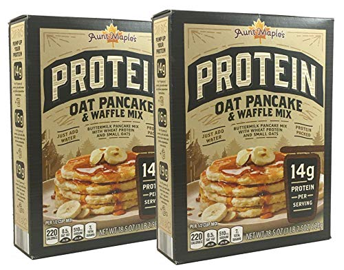 Aunt Maple#039s Protein Pancake amp Waffle Mix 185 oz 14g protein per serving Oat Pancake amp Waffle Mix 2 Pack