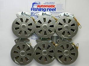 6 Mechanical Fisher's Yo Yo Fishing Reels -Package of 1/2 Dozen- Yoyo Fish Trap -(FLAT TRIGGER MODEL)