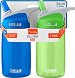 CamelBak Eddy Kids 2-Pack Water Bottle, Blue/Grass, 4 L