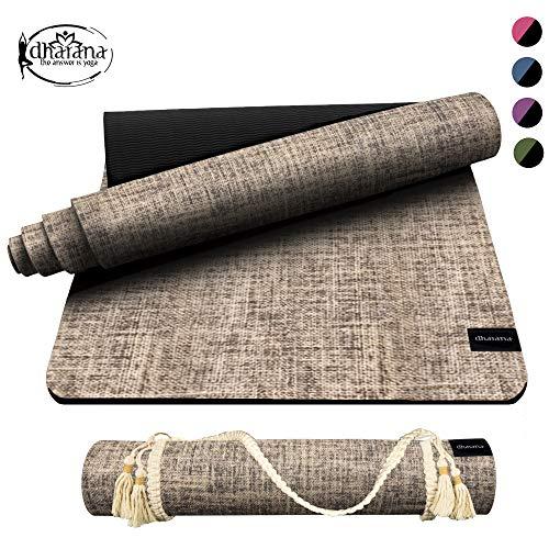Dharana Esterilla Yoga Mat Hecha de Yute 183x61x6mm - Antideslizante - Ecological-...