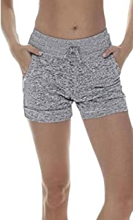 desolateness Women's Stretch Shorts Elastic Waist Comfy Workout Shorts with Pockets