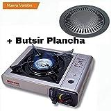 Butsir cocina Envio 24h portátil, Plateado, 56x38x33 cm MS-1000 + Butsir Plancha para cocinas portátiles,Negro,39x33x33 cm M-320