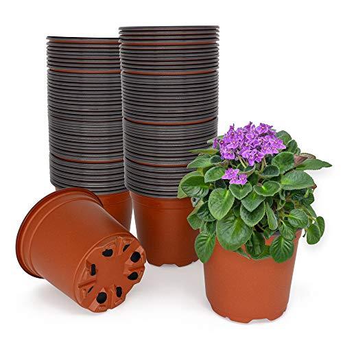 Green Thumbz Macetas pequeñas para Plantas de jardín Semillas de Inicio Macetas para Plantas de Flores Plantas y Semillas de Interior y Exterior. (Paquete de 100)