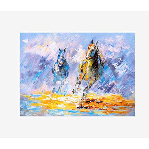 mmzki Gemälde abstrakt Landschaft Bunte Bäume Mediterrane Kleinstadt Dekorative Malerei Leinwand Malerei Öl Wandbilder für Wohnzimmer Kunst 40X60cm ohne Rahmen