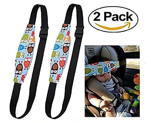 2Pcs Bambini del Bambino Cinghia auto Sicurezza, Dormire Cintura di sicurezza, Testa Protezioni Comfort Supporti per la testa (BLU)