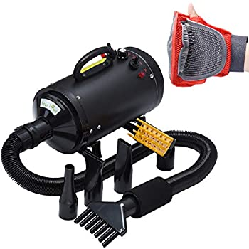 Pet Dryer Dog Cat Hair Blower Grooming Professional 4HP Forced Air Dryer for Dogs with Heating for Large Small Pets Dogs Cats Variable Speed