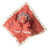 Personalized Putty Nursery Baby Dinosaur Dino Character Lovey Blanket Snuggle Blanky with Custom Name - 13 Inches