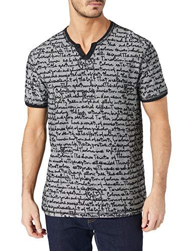 Desigual TS_Camilo Camiseta, Negro, S para Hombre