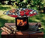 Grill Feuer Grill Grips - der Feuer-Wok-/Grill in der Holzkiste -