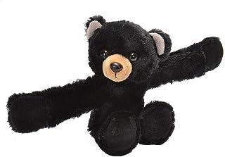 Wild Republic Huggers, Black Bear Plush Toy, Slap Bracelet, Stuffed Animal, Kids Toys, 8 inches 19555
