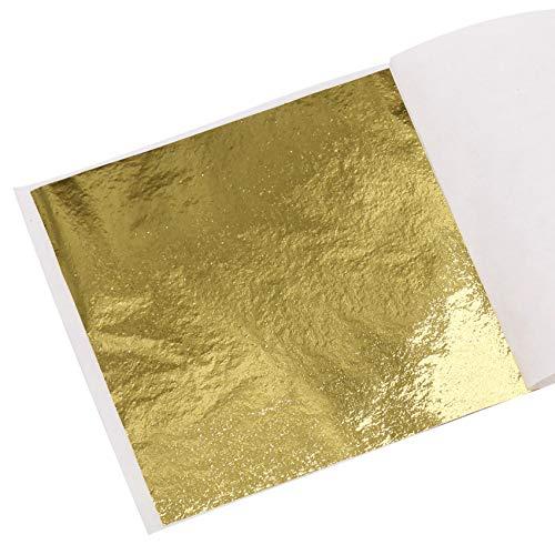 KINNO Imitation Blattgold 100 Stück 8x8.5cm Kunsthandwerk Kunstprojekt Möbel Gemälde Wand DIY Gold K Gold