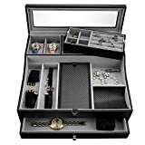 Valet Tray for Men| Sleek Dresser-Organizer Box for Storage &...