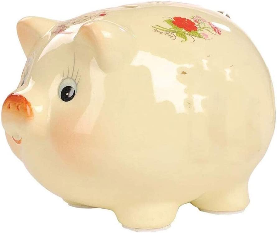 SMLZV Dealing full price reduction Ceramic Piggy Bank Makes a Gift Unique Fees free!! Nursery Perfect Dec
